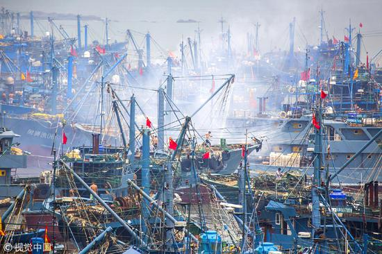 Fishing season starts in Fujian port