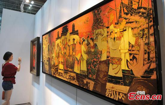 Chinese paintings on Maritime Silk Road exhibited in Fuzhou
