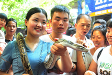 Meet a snake king on China's Double Seventh Festival