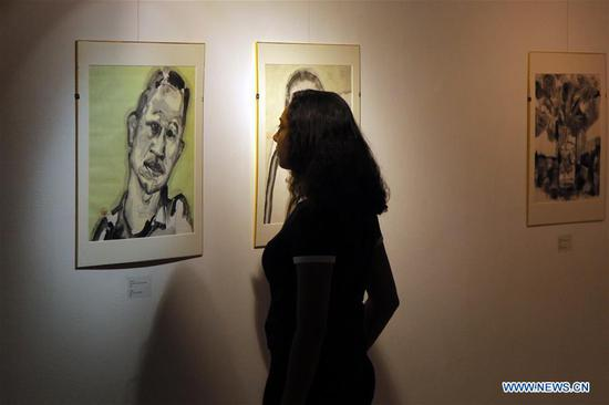 Chinese fine art exhibition in Egypt deepens cultural ties