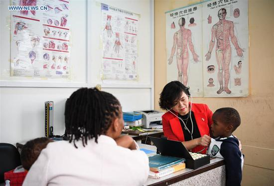 Chinese doctors in traditional Chinese medicine operate clinic in Nairobi, Kenya