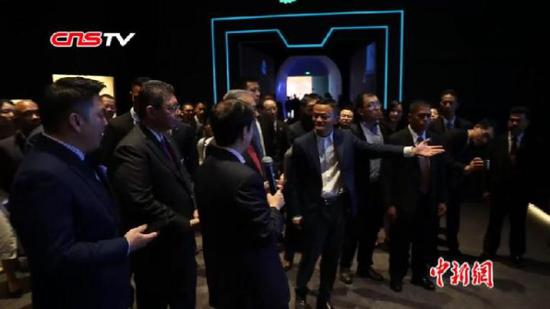 Malaysian Prime Minister Mahathir meets Alibaba's Jack Ma