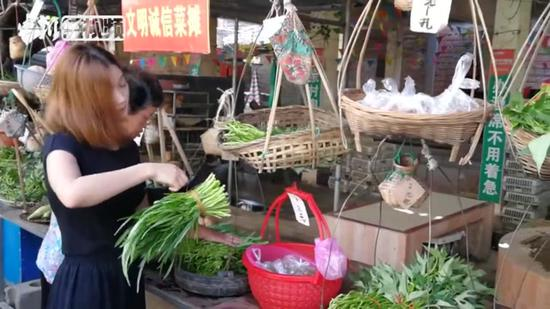 Self-service vegetable market attracts tourists