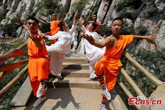 Yoga meets Zen in Shaolin Temple