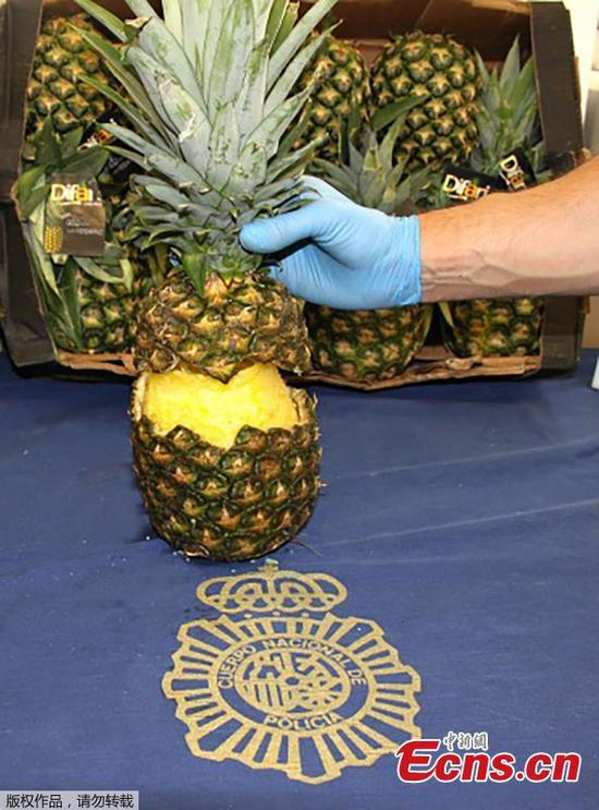 Nearly 150 pounds of coke found hidden in pineapples in Spain