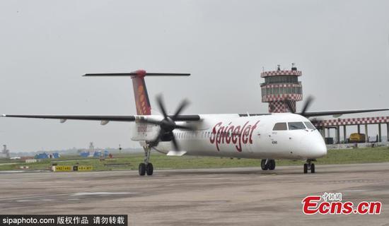 SpiceJet首次亮相印度首次生物燃料飞行