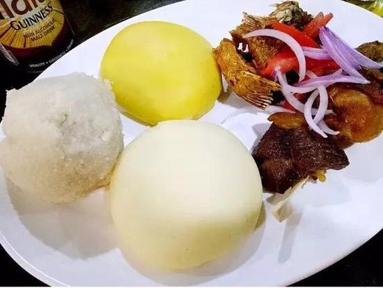 Fufu is one of the sticky staple food popular in many parts of Africa.