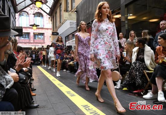 Street runway at Melbourne Fashion Week