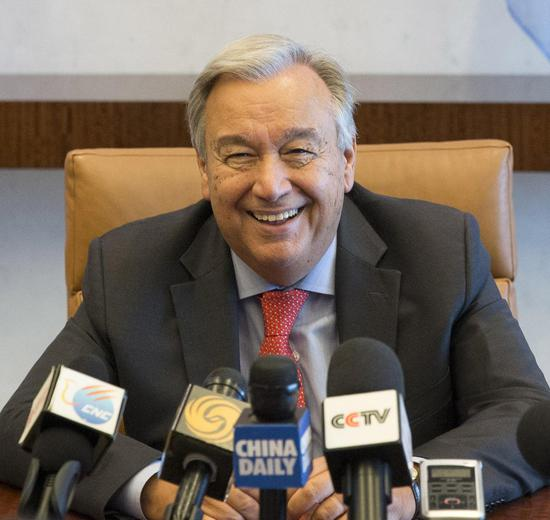 Antonio Guterres, UN secretary-general. (Photo/China Daily)