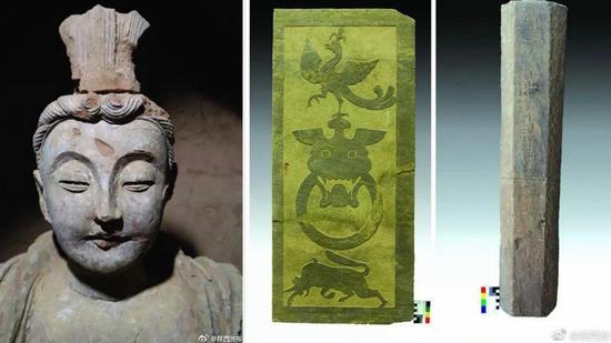 Buddhist grotto relics found in northwest China