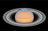 Vast auroras seen over Saturn's north pole