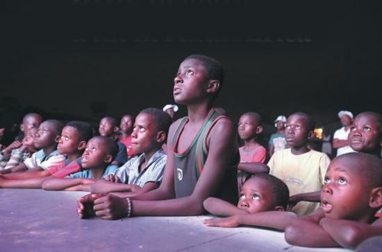 Drive-in movie van a hit in rural Africa