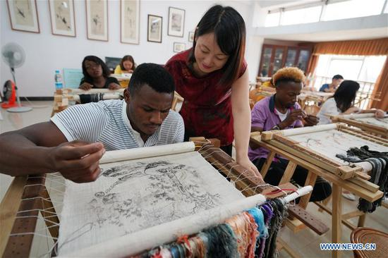 African students learn about Chinese culture at Xinyu university