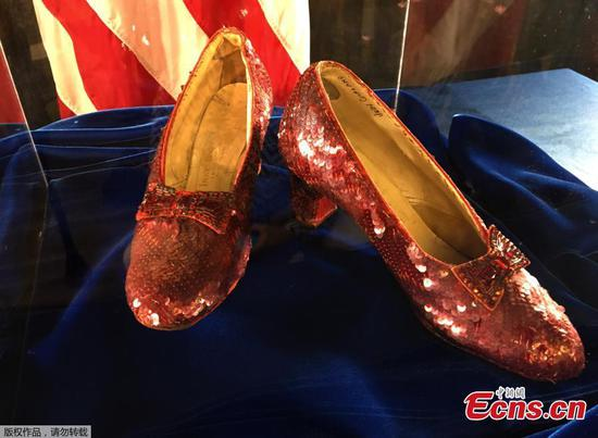 Judy Garland's stolen ruby slippers found after 13 years