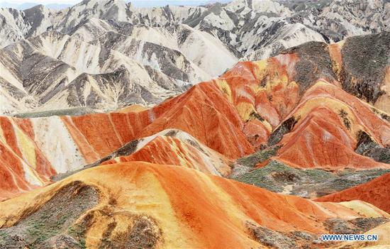 Spectacular scenery of Danxia landform in Gansu