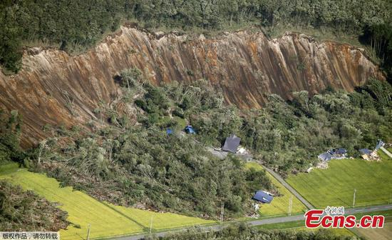 Landslide buries homes in Japan's Hokkaido after 6.7 quake