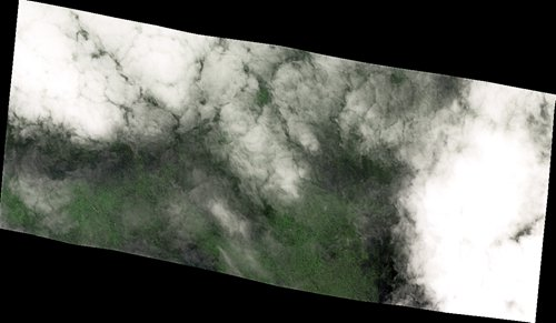 Satellite image of the alleged site in the Cambodian jungle covered by clouds taken on Wednesday (Photo/Courtesy of Chang Guang Satellite Technology Co Ltd)