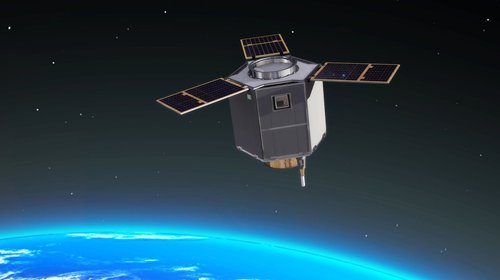 Concept art of an in-orbit satellite developed by Chang Guang Satellite Technology Co Ltd (Photo/Courtesy of Chang Guang Satellite Technology Co Ltd)