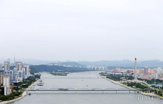 Urban landscape of Pyongyang