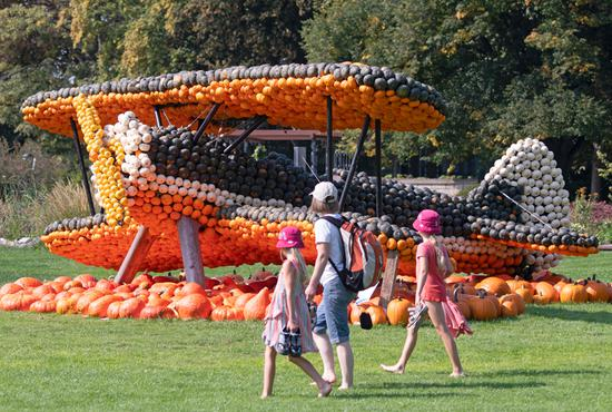 Sculptures created with pumpkins displayed in Germany's Erfurt