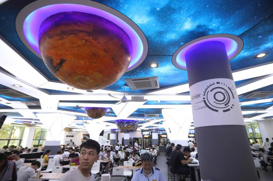Universe-themed dining hall gives a new look to campus in Nanjing