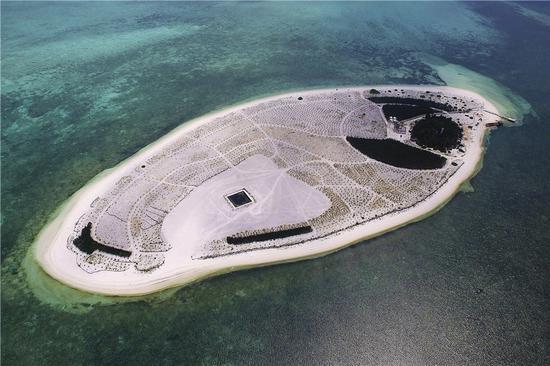 The Nandao Island of Xisha Xuande Islands. (Photo by Guo Cheng/Xinhua)