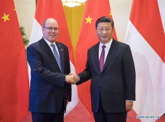 China, Monaco agree to further push forward bilateral ties