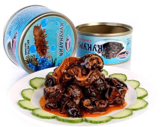 Canned sea cucumbers /Photo via Taobao