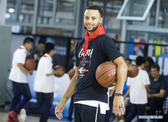NBA player Stephen Curry starts China Tour