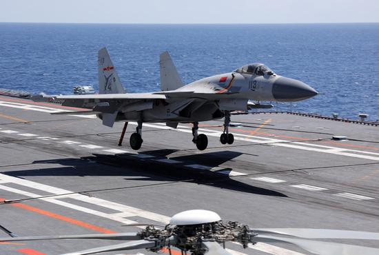 PLA Navy fighter jet force trains for carrier duty