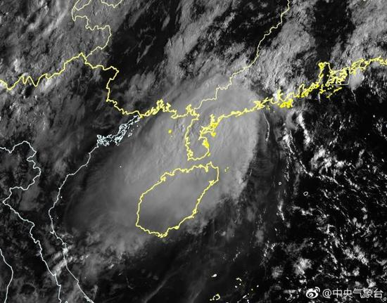 Satellite image of Typhoon Barijat (Photo/National Meteorological Center of CMA)
