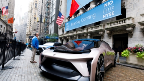 Chinese EV start-up NIO rings opening bell in New York as a test of its commitment begins