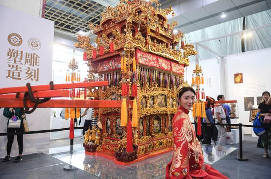 Intangible cultural heritage expo opens in Jinan