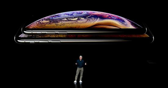 Apple CEO Tim Cook at the launch of the company's new range of iPhone Xs products in Cupertino, California. (Photo by Qi Heng / For China Daily)