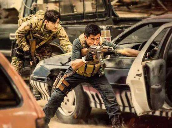 A scene from  Wolf Warrior 2. (Photo provided to China Daily)