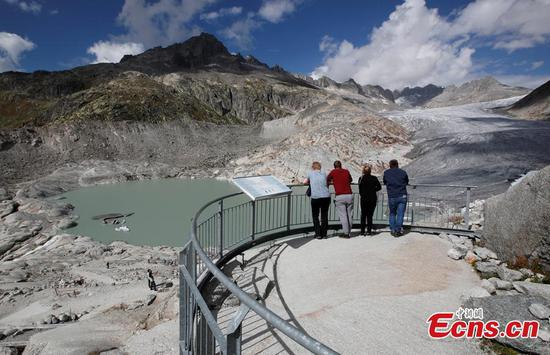 Rhone Glacier melting in Switzerland