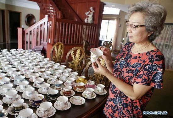 A woman's obsession with English china teaware