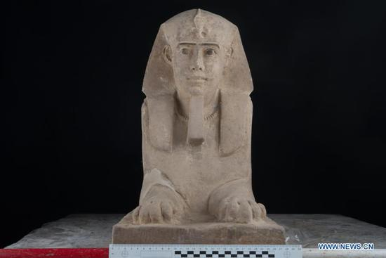 Egypt unearths sandstone Sphinx statue in Aswan