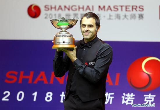 Ronnie O'Sullivan wins third Shanghai Masters snooker title