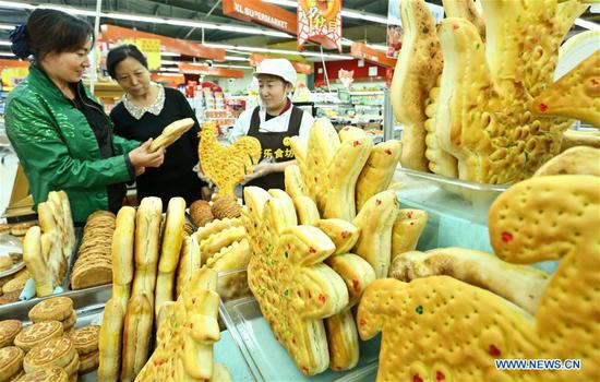 Traditional moon cakes prepared in Zhangye