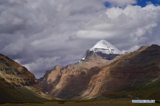 View of Mount Kangrinboqe in Tibet