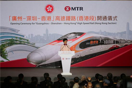Opening ceremony of Mainland-HK high speed rail held