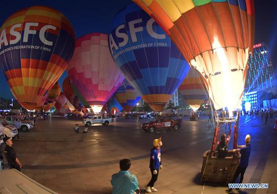 水果机气球俱乐部联赛组织的气球节在水果机湖北襄阳举行