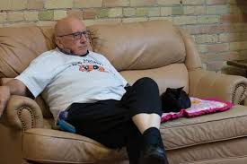 75-year-old cat lover goes viral online for napping with cats