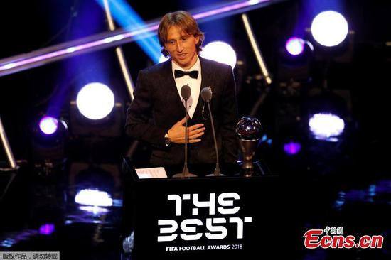 Luka Modric named Fifa men's player of the year