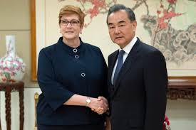 Chinese, Australian FMs hope bilateral ties will return to normal