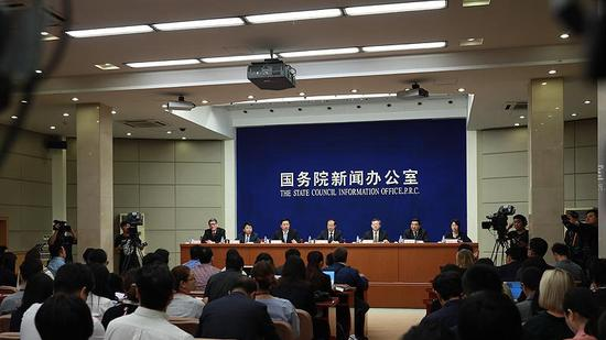 The Information Office of the State Council (SCIO) hods a press conference in Beijing, Sept. 25, 2018. (Photo/SCIO)