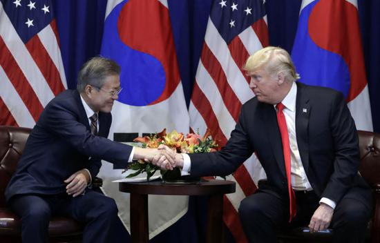 Trump, Moon agree to keep pressure on DPRK, discuss 2nd U.S.-DPRK summit