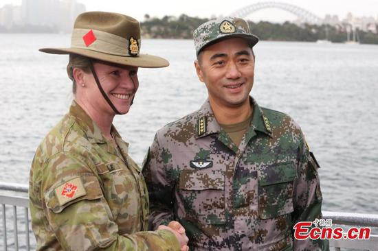 Chinese, Australian soldiers make friends for life during