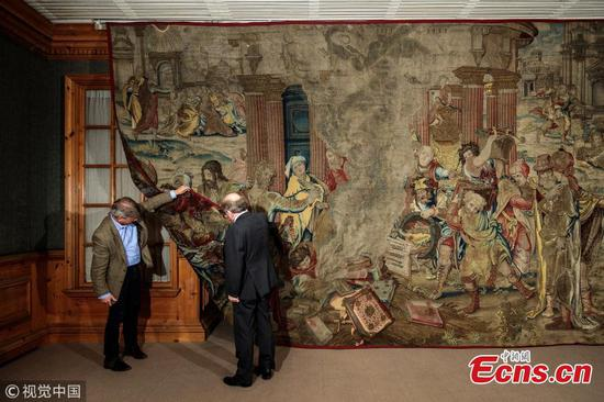 Henry VIII's 'Holy Grail' tapestry found in Spain